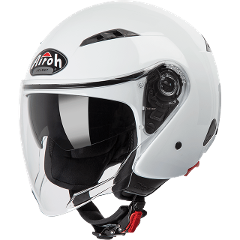 CITY ONE WHITE GLOSS JET HELMET AIROH Casco Jet city con sun visor in resina termoplastica