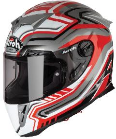 GP 500 Rival RED/GREY MIS S AIROH Casco ON-ROAD - RACEin fibre composite