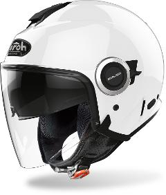 HELIOS COLOR WHITE   AIROH CASCO JET IN TERMOPLASTICA