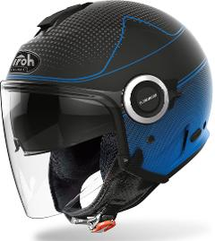 HELIOS BLU MATT  MAP  AIROH CASCO JET IN TERMOPLASTICA
