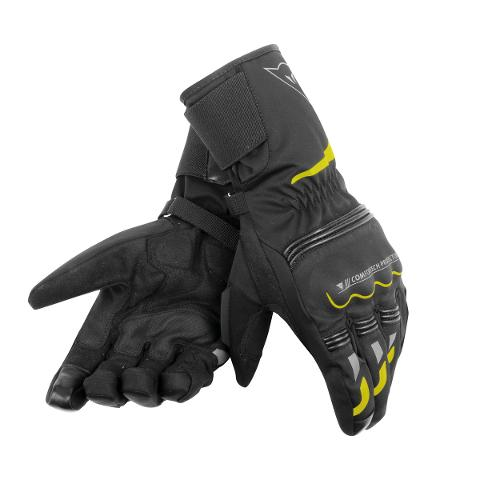 TEMPEST UNISEX D-DRY® LONG GLOVES  Dainese  Black/Fluo-Yellow