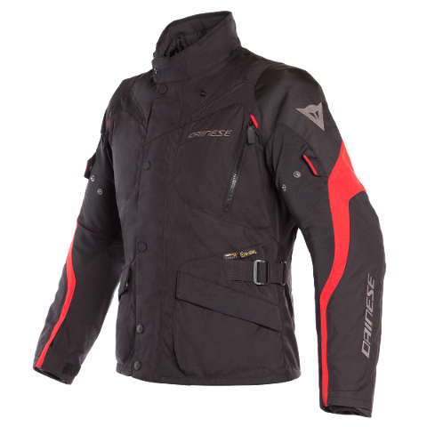 TEMPEST 2 D-DRY JACKET Dainese Black/Black/Tour-Red
