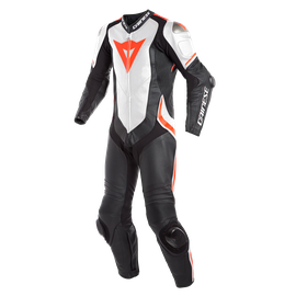 LAGUNA SECA 4 1PC PERF. LEATHER SUIT Dainese  white/black/fluo-red