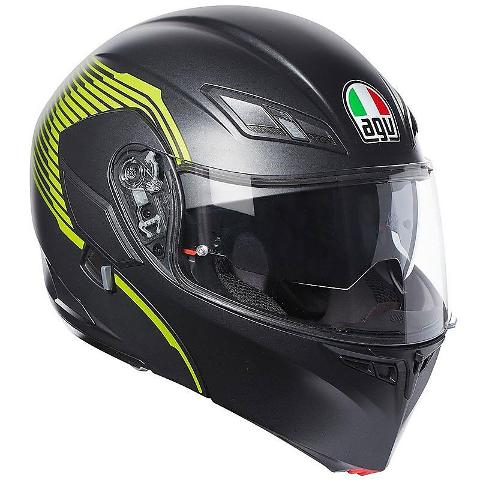 COMPACT ST E2205 MULTI - AGV   VERMONT-BLACK MATT/YELLOW FLUO