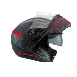 COMPACT ST E2205 MULTI  AGV  SEATTLE MATT BLACK/SILVER/RED
