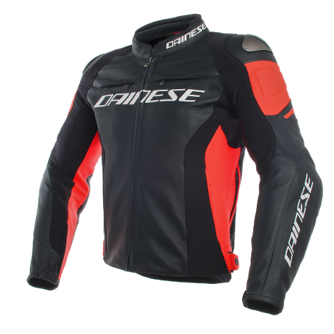 RACING 3 LEATHER Dainese BLACK/BLACK/FLUO-RED
