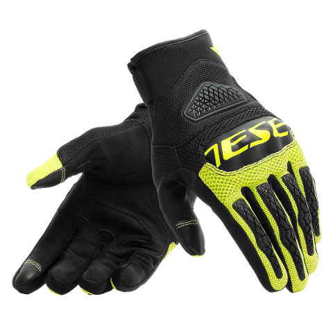 BORA Dainese GLOVES TEX BLACK/YELLOW