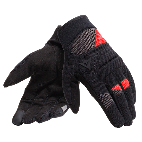 GUANTO MOTO ESTIVO CITY STRADALE TEX CORTO Dainese FOGAL UNISEX GLOVES BLACK/RED