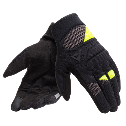GUANTO MOTO ESTIVO CITY STRADALE TEX CORTO Dainese FOGAL UNISEX GLOVES BLACK/FLUO-YELLOW