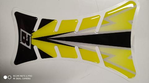 PARASERBATOIO TANK PROTECTOR ROAD RACING BLACKBIRD FLASH YELLOW