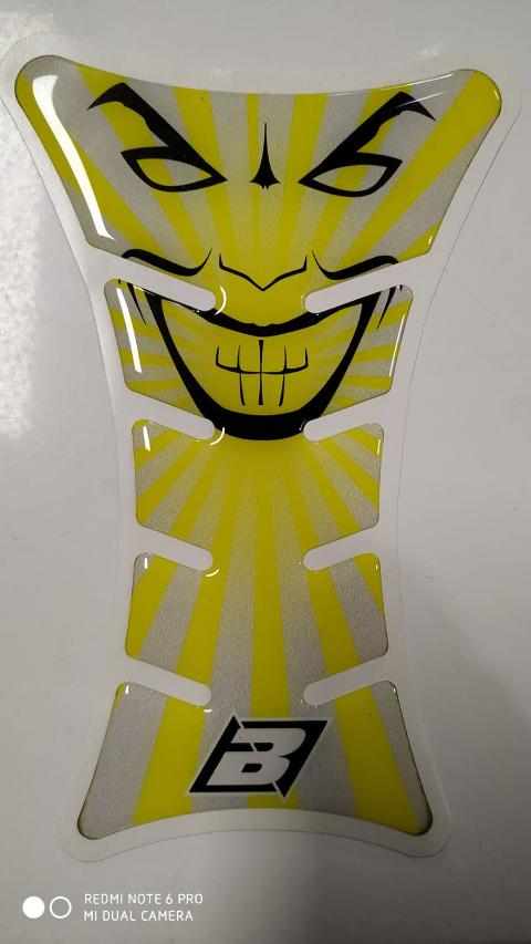 PARASERBATOIO TANK PROTECTOR ROAD RACING BLACKBIRD JOKER YELLOW