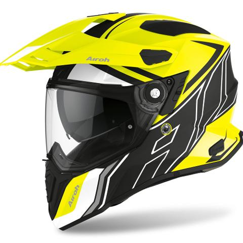 COMMANDER CASCO HELMET ON-OFF SPORT-TOURING-ADVENTURE AIROH DUO YELLOW MATT