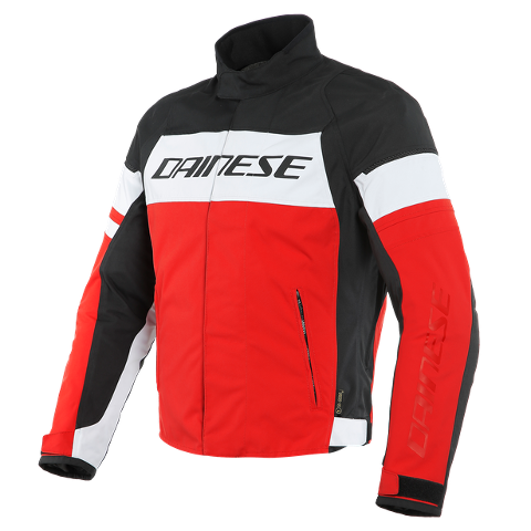SAETTA - GIUBBOTTO MOTO SPORT URBAN MIDDLE SEASON IN D-DRY Dainese WHITE/LAVA-RED/BLACK