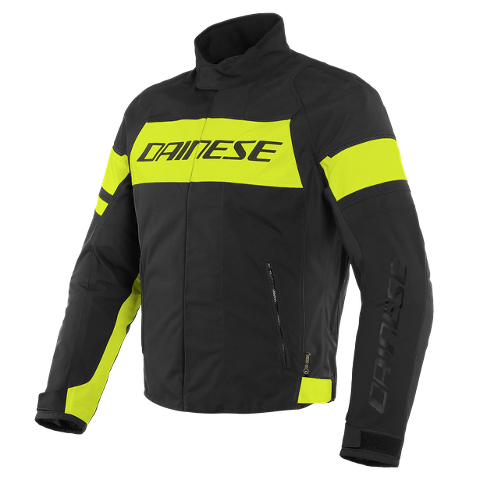 SAETTA - GIUBBOTTO MOTO SPORT URBAN MIDDLE SEASON IN D-DRY Dainese BLACK/FLUO-YELLOW/BLACK