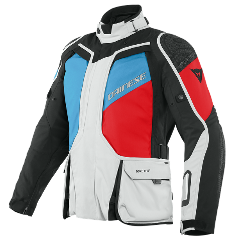 D-EXPLORER - GIACCA MOTO SPORT TOURING 4 SEASON CON LAYER TERMICO IN GORE-TEX Dainese GLACIER-GRAY/BLUE/LAVA-RED/BLACK