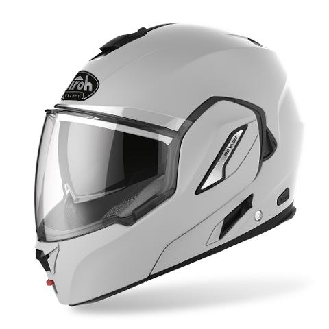 REV 19 MONOCOLORE CONCRETE GRAY AIROH CASCO FLIP UP COMPLETO DI PINLOCK