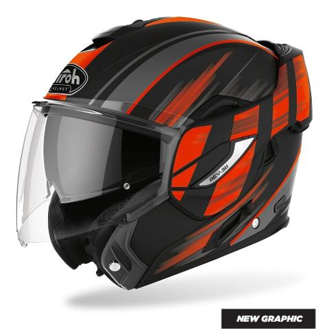 REV 19 MULTI IKON  AIROH CASCO FLIP UP COMPLETO DI PINLOCK