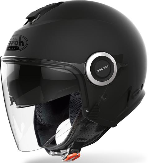 HELIOS COLOR BLACK MATT AIROH CASCO JET IN TERMOPLASTICA