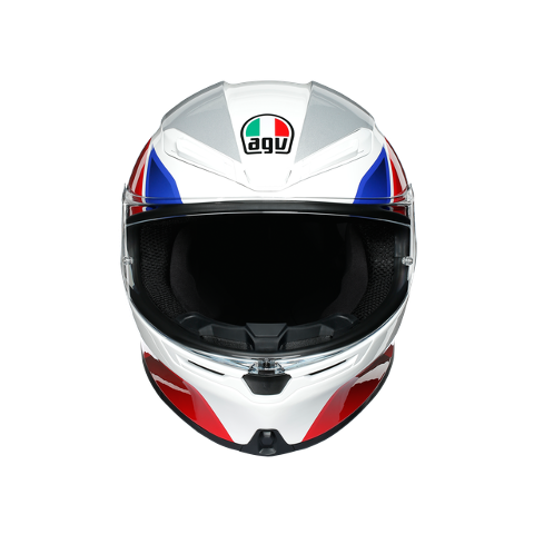 K6 E2205 MULTI AGV HYPHEN WHITE/RED/BLUE