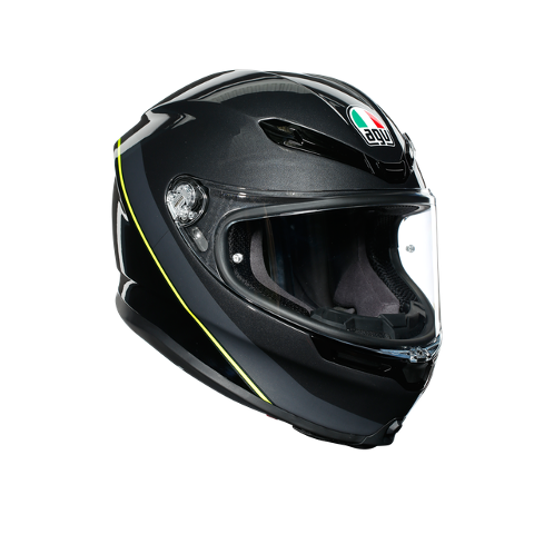 K6 E2205 MULTI AGV MINIMAL GUNMETAL/BLACK/YELLOW FLUO