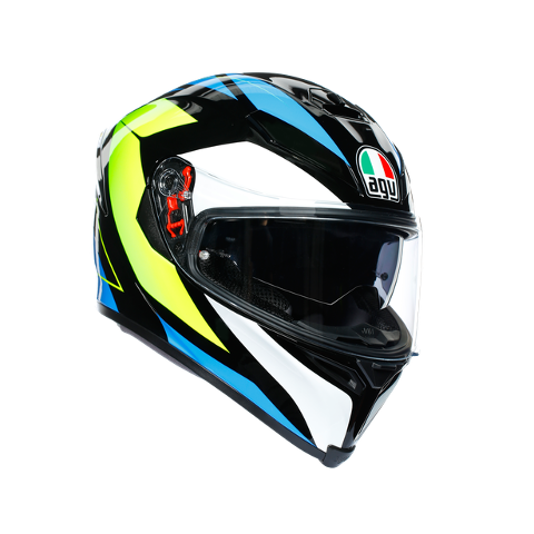 K5 S E2205 MULTI AGV CORE BLACK/CYAN/YELLOW FLUO
