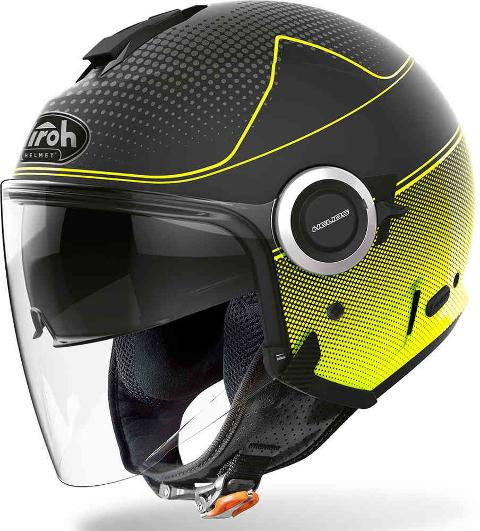 HELIOS YELLOW MATT  MAP  AIROH CASCO JET IN TERMOPLASTICA