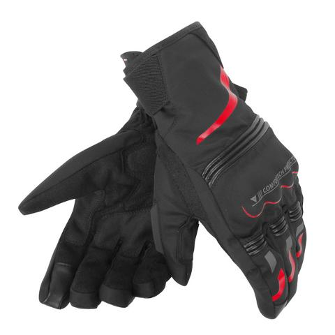 TEMPEST UNISEX D-DRY® SHORT GLOVES Dainese black/red