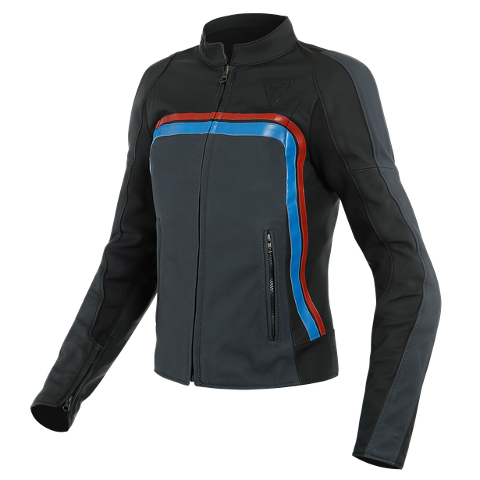 LOLA 3 LADY LEATHER JACKET Dainese   Black/Ebony/Red/Blue