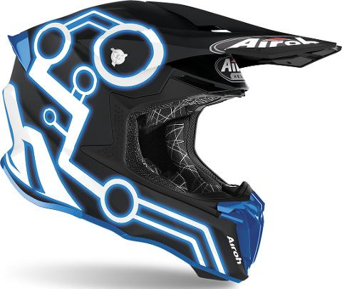 Airoh Twist 2.0 NEON FLUO Casco Motocross AIROH Casco off-road - cross in resina termoplastica