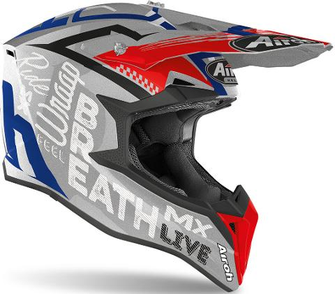 AIROH WRAAP STREET GREY  METAL MOTOCROSS AIROH Casco off-road - cross in resina termoplastica
