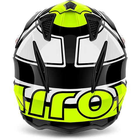 AIROH TRR S VINTAGE YELLOW AIROH Casco Jet Urban da trial in fibre composite