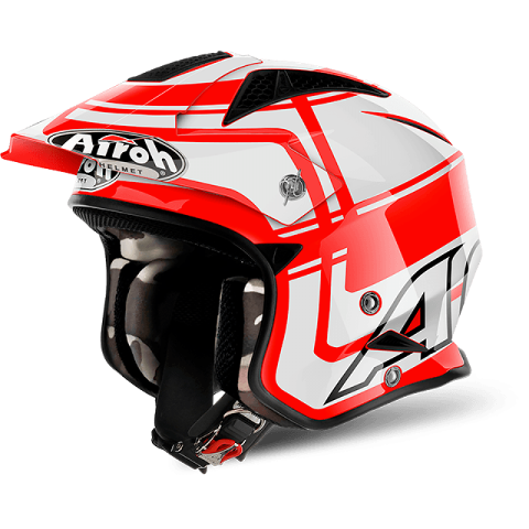 AIROH TRR S JET VINTAGE RED URBAN TRIAL AIROH Casco Jet Urban da trial in fibre composite
