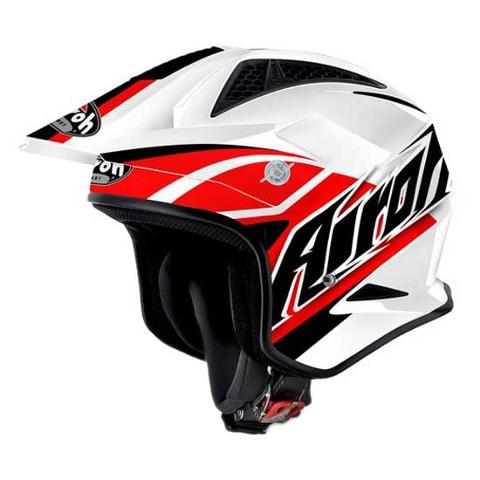 AIROH TRR  JET BREAKER RED GLOSS URBAN TRIAL AIROH Casco Jet Urban da trial in fibre composite