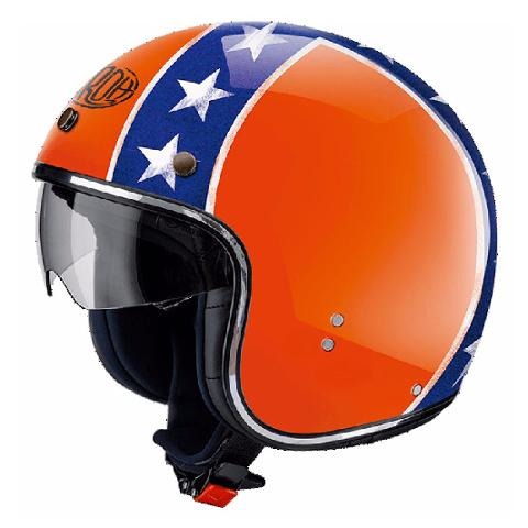 RIOT GENERAL ORANGE  AIROH CASCO VINTAGE IN FIBRE COMPOSITE