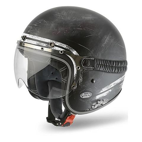 GARAGE JET  RAW AIROH CASCO VINTAGE IN FIBRE COMPOSITE