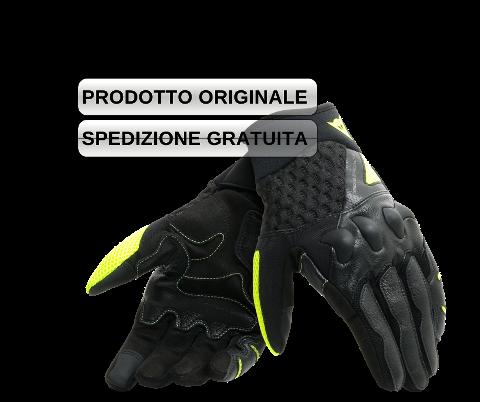 GUANTO MOTO ESTIVO SPORT STRADALE PELLE CORTO Dainese  X-MOTO BLACK/FLUO-YELLOW