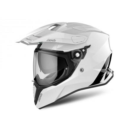 COMMANDER CASCO HELMET ON-OFF SPORT-TOURING-ADVENTURE AIROH WHITE GLOSS
