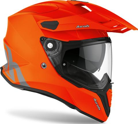 COMMANDER CASCO HELMET ON-OFF SPORT-TOURING-ADVENTURE AIROH ORANGE MATT