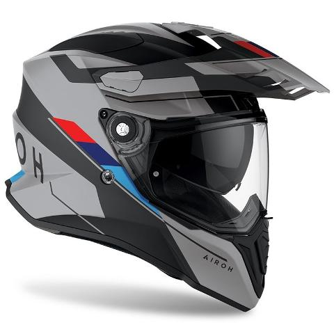 COMMANDER CASCO HELMET ON-OFF SPORT-TOURING-ADVENTURE AIROH SKILL MATT