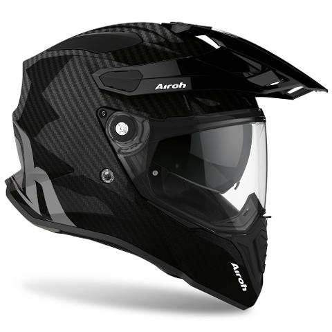 COMMANDER CASCO HELMET ON-OFF SPORT-TOURING-ADVENTURE AIROH FULL CARBON GLOSS