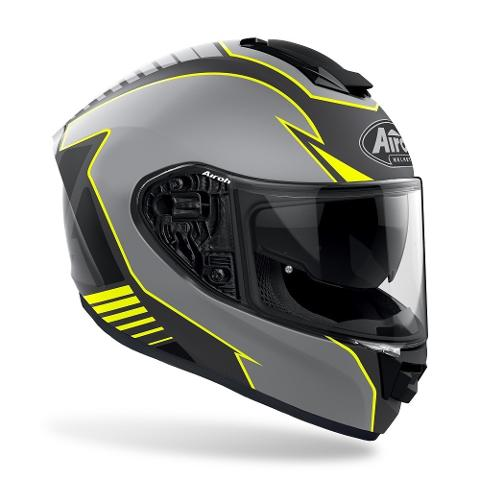 ST 501 - TYPE YELLOW MATT AIROH CASCO FULL FACE TRI-COMPOSITE
