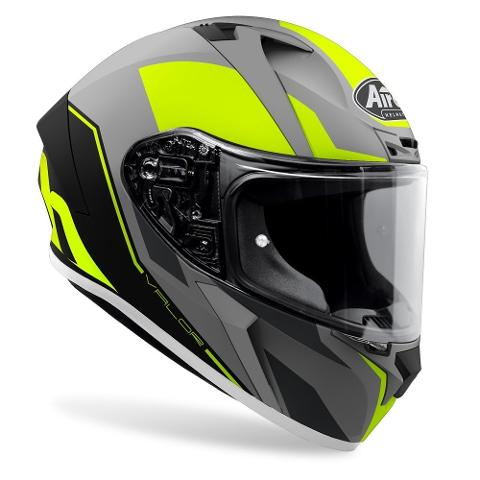 VALOR WINGS YELLOW MATT AIROH Casco ON-ROAD in resina termoplastica