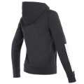 DAINESE FULL-ZIP SWEATSHIRT LADY BLACK-WHITE  Dainese  felpa casual wear moto/scooter/tempo libero