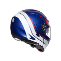 COMPACT ST E2205 MULTI AGV BOSTON MATT BLUE/WHITE/RED
