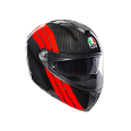 SPORTMODULAR MULTI E2205 AGV STRIPES CARBON/RED
