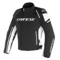 GIUBBOTTO MOTO SPORT IN D-DRY Dainese RACING 3 TEX BLACK/BLACK/WHITE