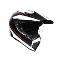 AX9 E2205 MULTI PLK  - PACIFIC ROAD AGV MATT BLACK/WHITE/RED