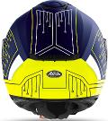 SPARK  CYRCUIT  BLACK/ BLU  AIROH Casco  full-face in HRT (High Resistant Thermoplastic
