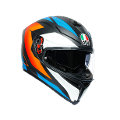 K5 S E2205 MULTI AGV CORE MATT BLACK/BLUE/ORANGE
