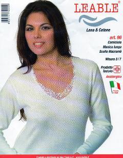 Maglia manica lunga Cotone/Lana LEABLE Art.96 (Confezioni da 3 capi)